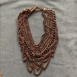 Multi strand copper necklace